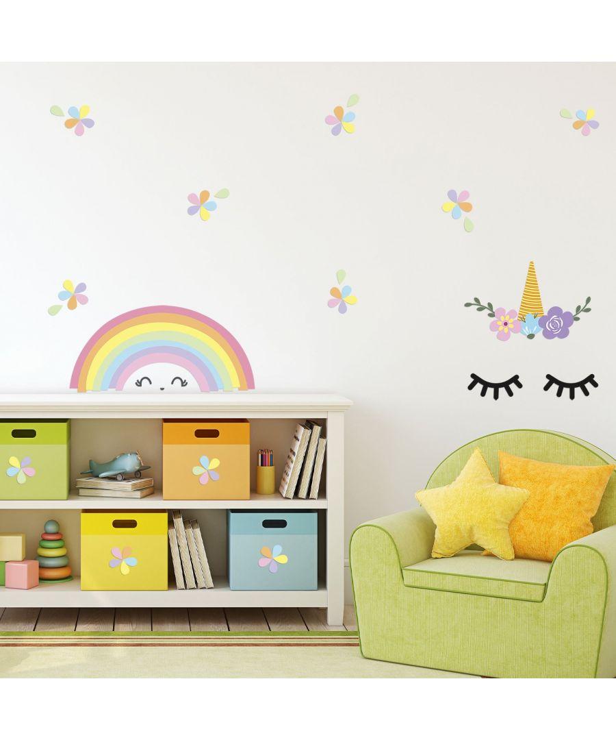Image for Wall Art - Sleeping Unicorn And Rainbow