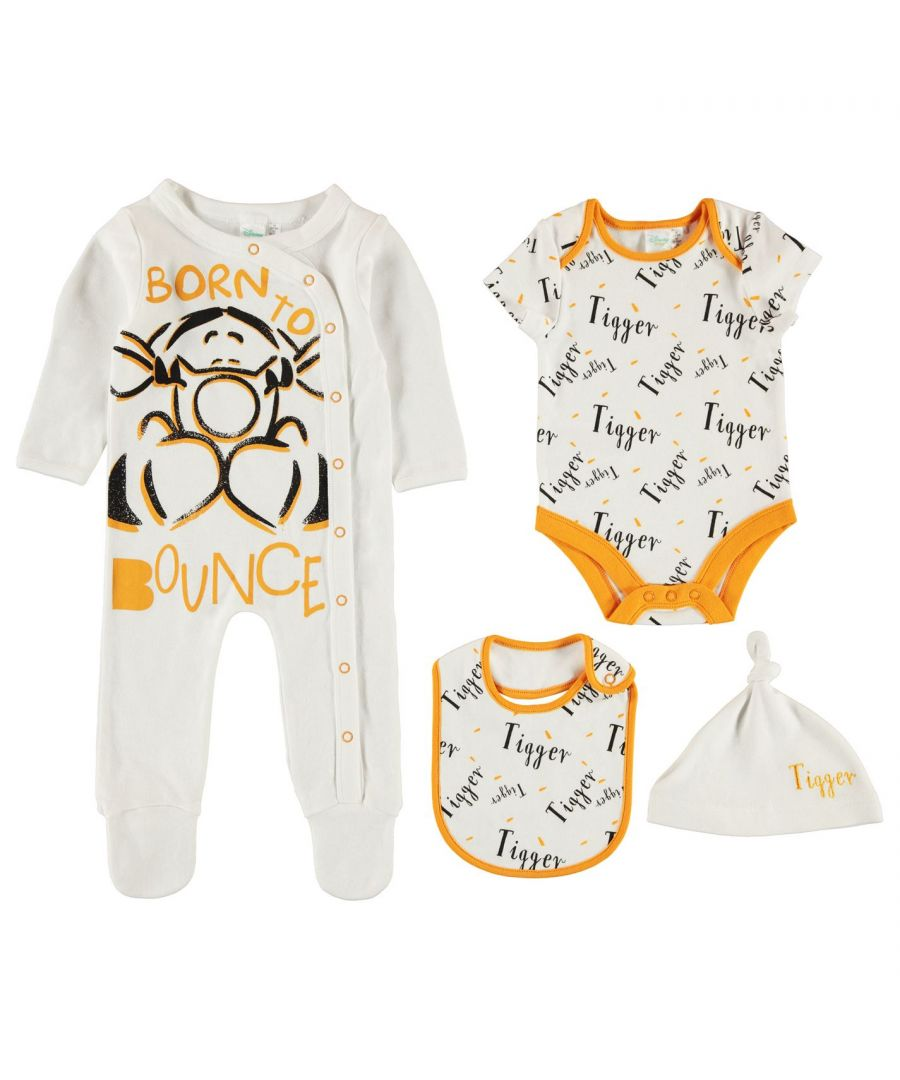 Image for Character Baby Kids 4 Piece Romper Rompers Sleep Suit Long Sleeve Cotton Print