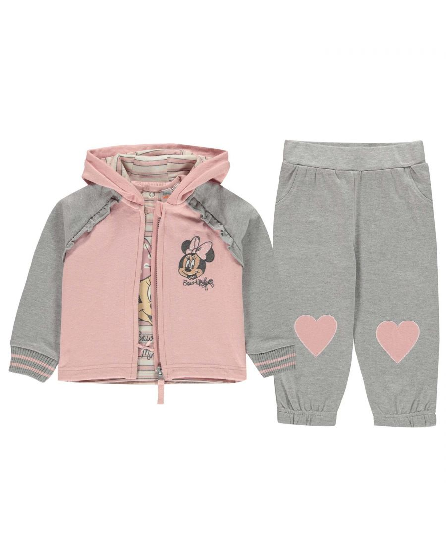 Image for Character Baby 3 Piece Set Clothing Short Sleeve Crew Neck Hooded Zip Full