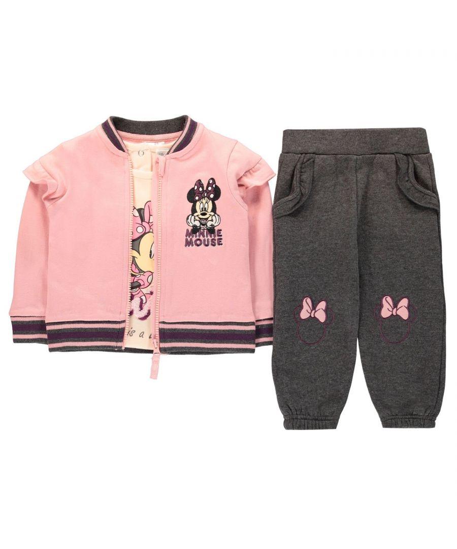 Image for Character Babies Unisex Baseball 3 Piece Set Babies Sweatshirt Jacket Pants