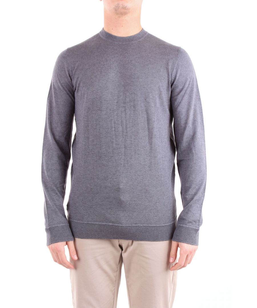 Image for ALPHA STUDIO MEN'S AU8680CUGREY GREY WOOL SWEATER