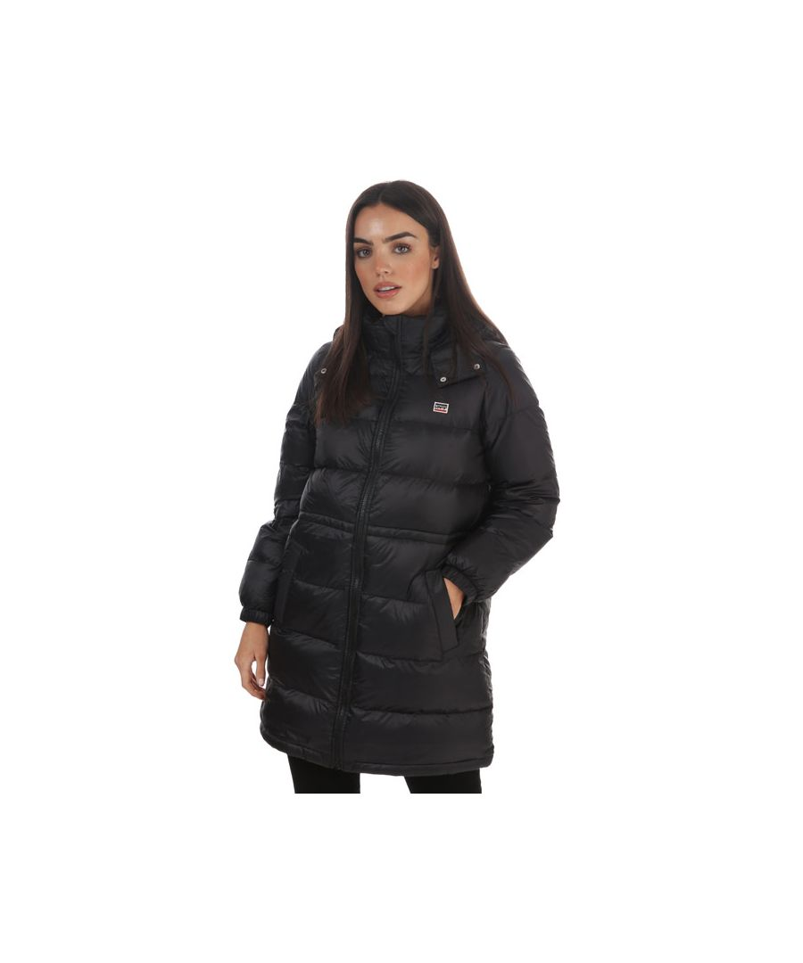 Image for Women's Levis Suki Down Puffer Jacket Black 6in Black