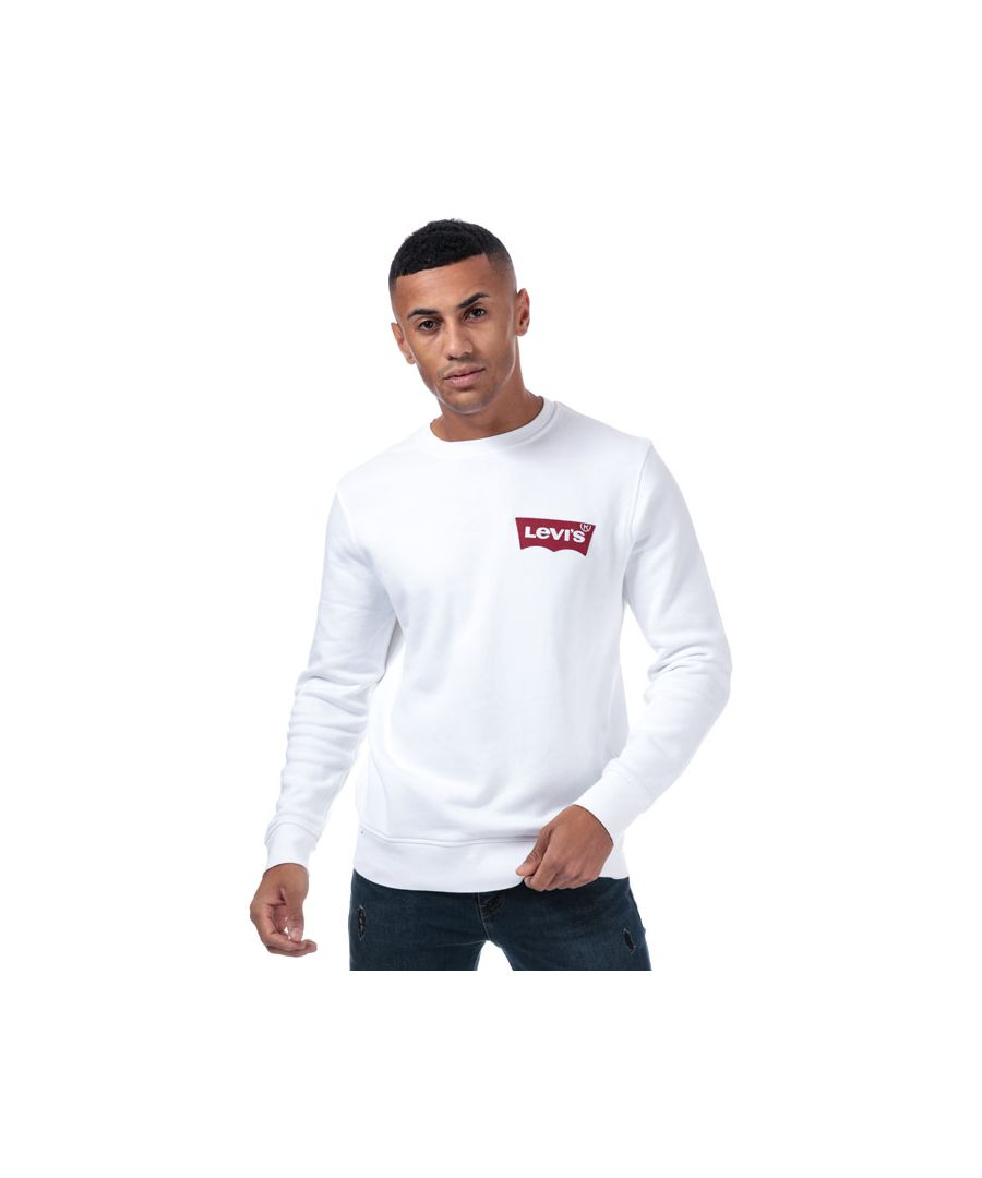 Image for Men's Levis Modern Batwing Logo Crew Sweat in White