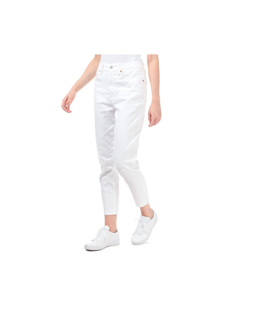 Image for Women's Levis Mom Prim And Proper Jeans in White