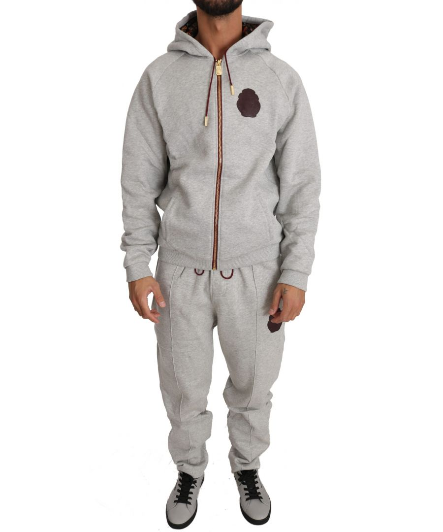 Image for Billionaire Italian Couture Gray Cotton Sweater Pants Tracksuit