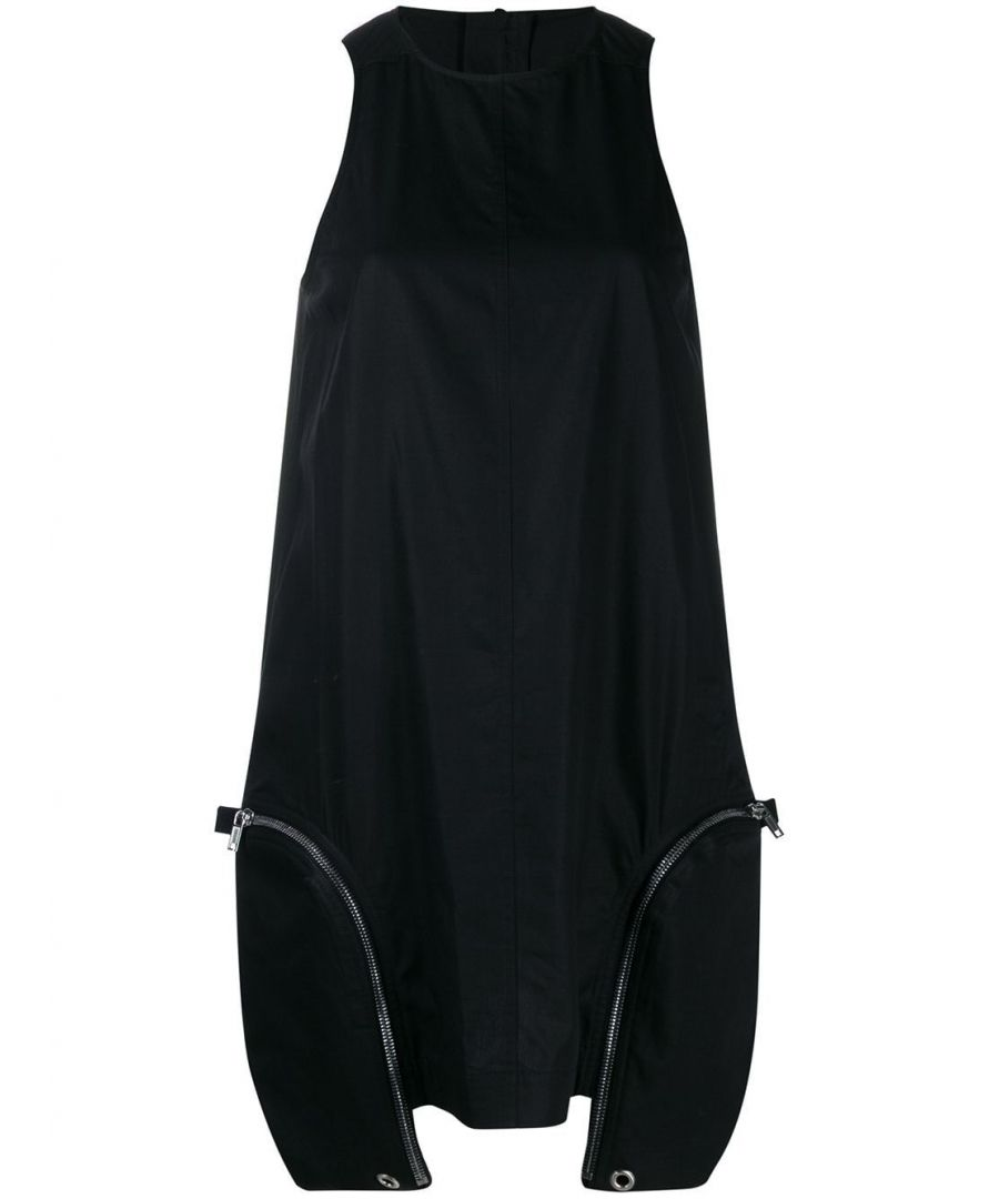 Image for DRKSHDW BY RICK OWENS WOMEN'S DS20S5523CR09 BLACK COTTON DRESS