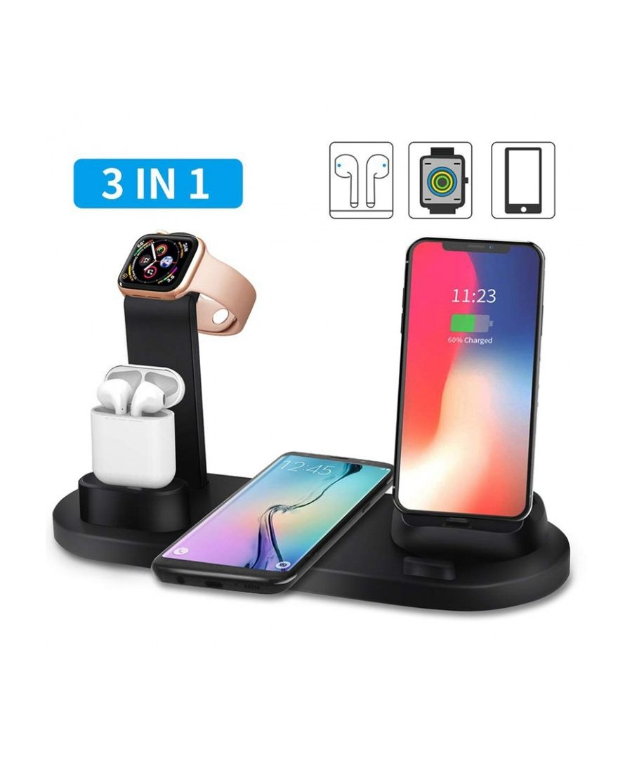 Image for In 1 Charging Stand, Airpod Charging Base, mobile (lightning, micro Usb And Usb Type C) And Iwatch