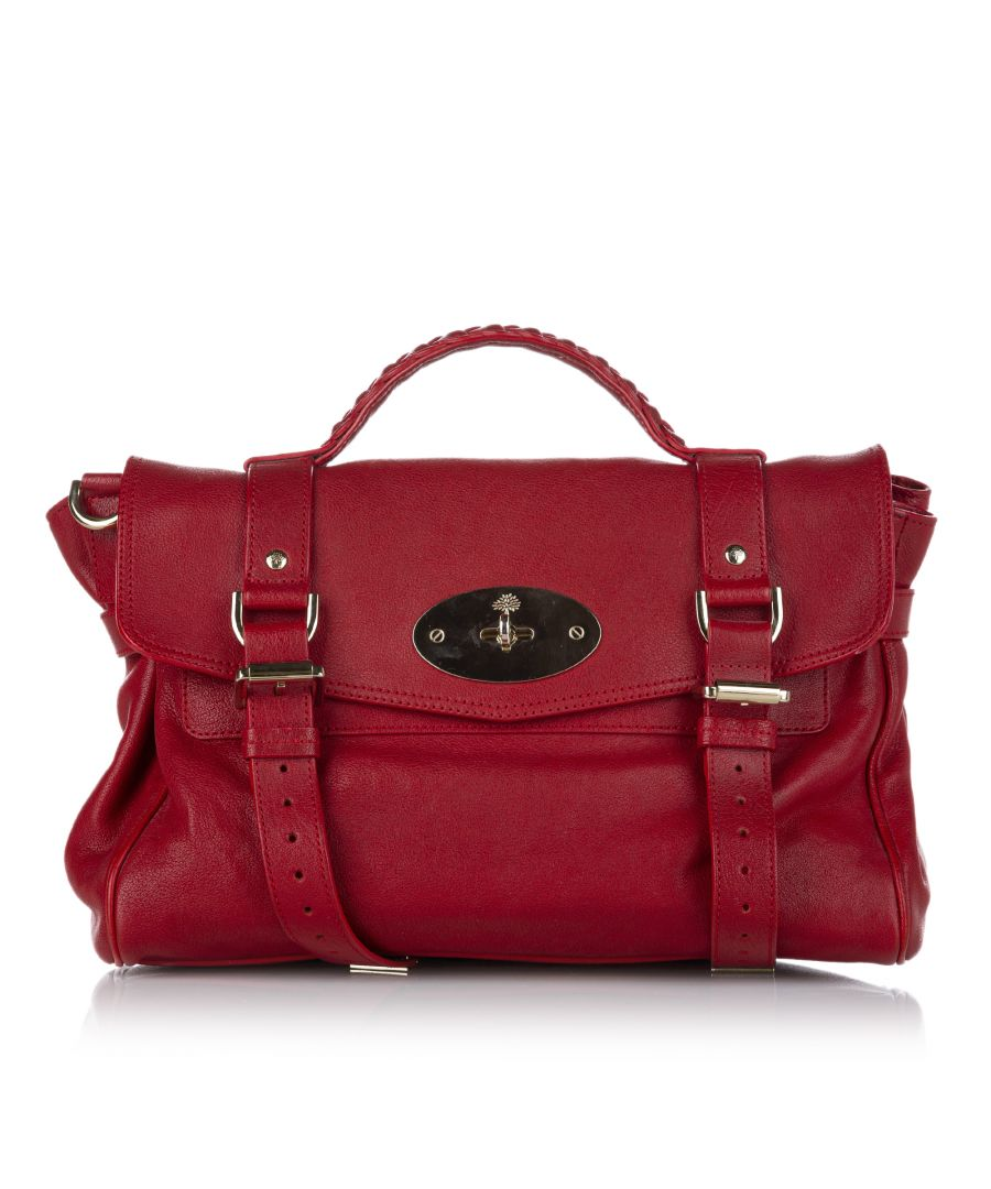 Image for Vintage Mulberry Alexa Leather Satchel Red