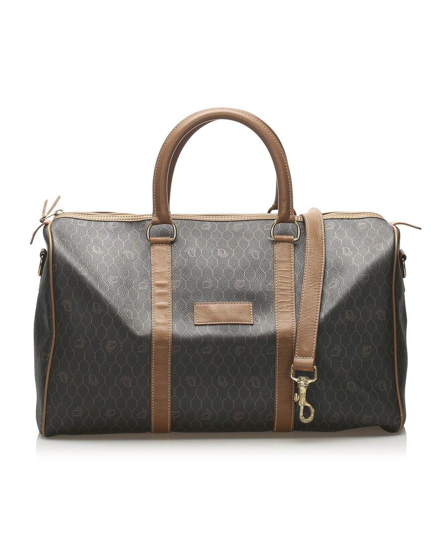 Image for Vintage Dior Honeycomb Travel Bag Black