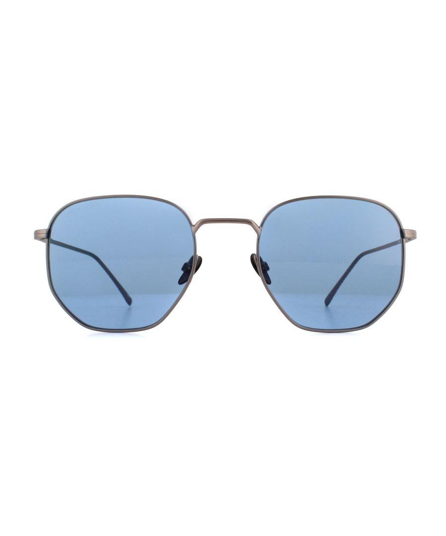 Image for Lacoste Sunglasses L206S 033 Matte Dark Ruthenium Blue