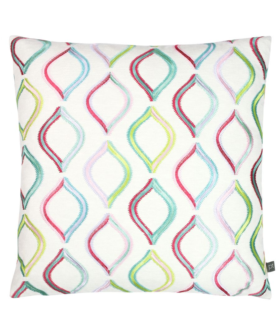 Image for Prestigious Textiles Spinning Top Polyester Filled Cushion Cover, Polyester, Acrylic, Rainbow