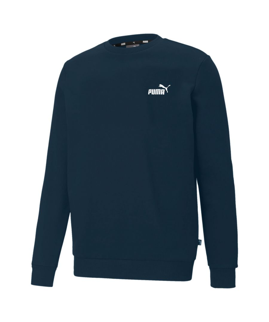 Image for Puma Essentials Small Logo Fleece Crew Men's Sweatshirt in Blue