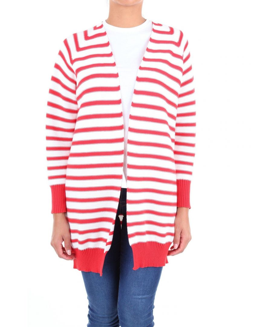 Image for LES COPAINS WOMEN'S 0J1080RED RED COTTON CARDIGAN