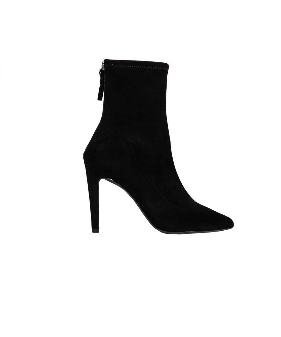 Image for KENDALL + KYLIE WOMEN'S KKORION02 BLACK SUEDE ANKLE BOOTS