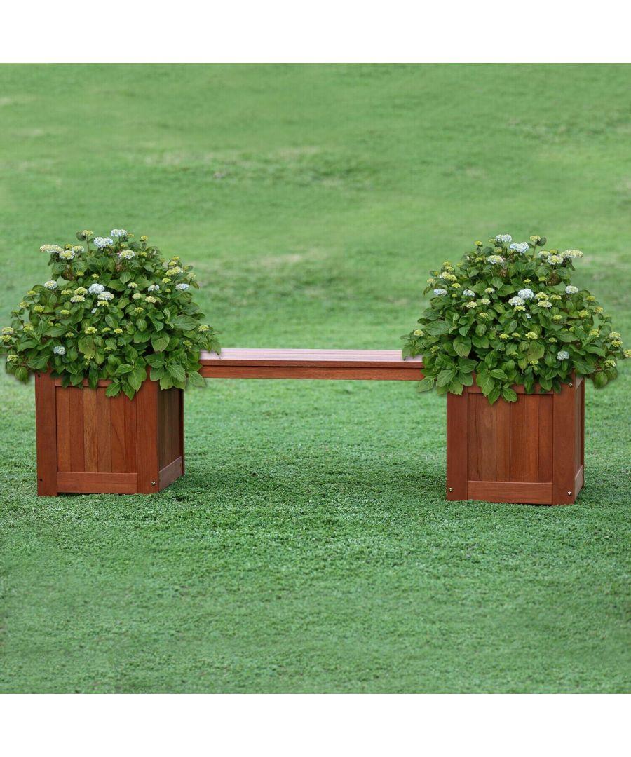Image for Furinno Tioman Hardwood Planter Box in Teak Oil, Natural
