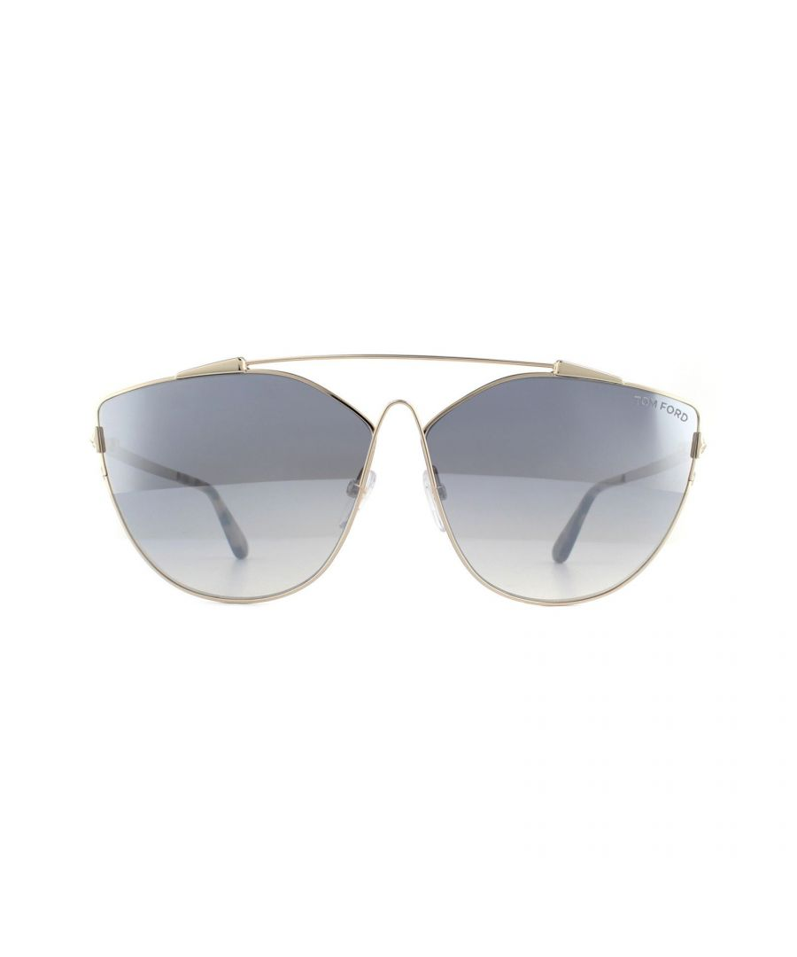 Image for Tom Ford Sunglasses Jacquelyn 0563 28C Shiny Rose Gold Smoke Mirrored