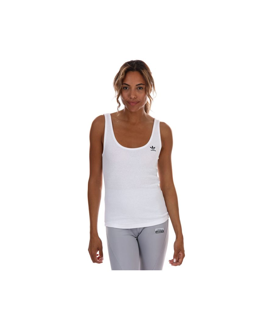 Image for Women's adidas Originals Tank Top in White Black