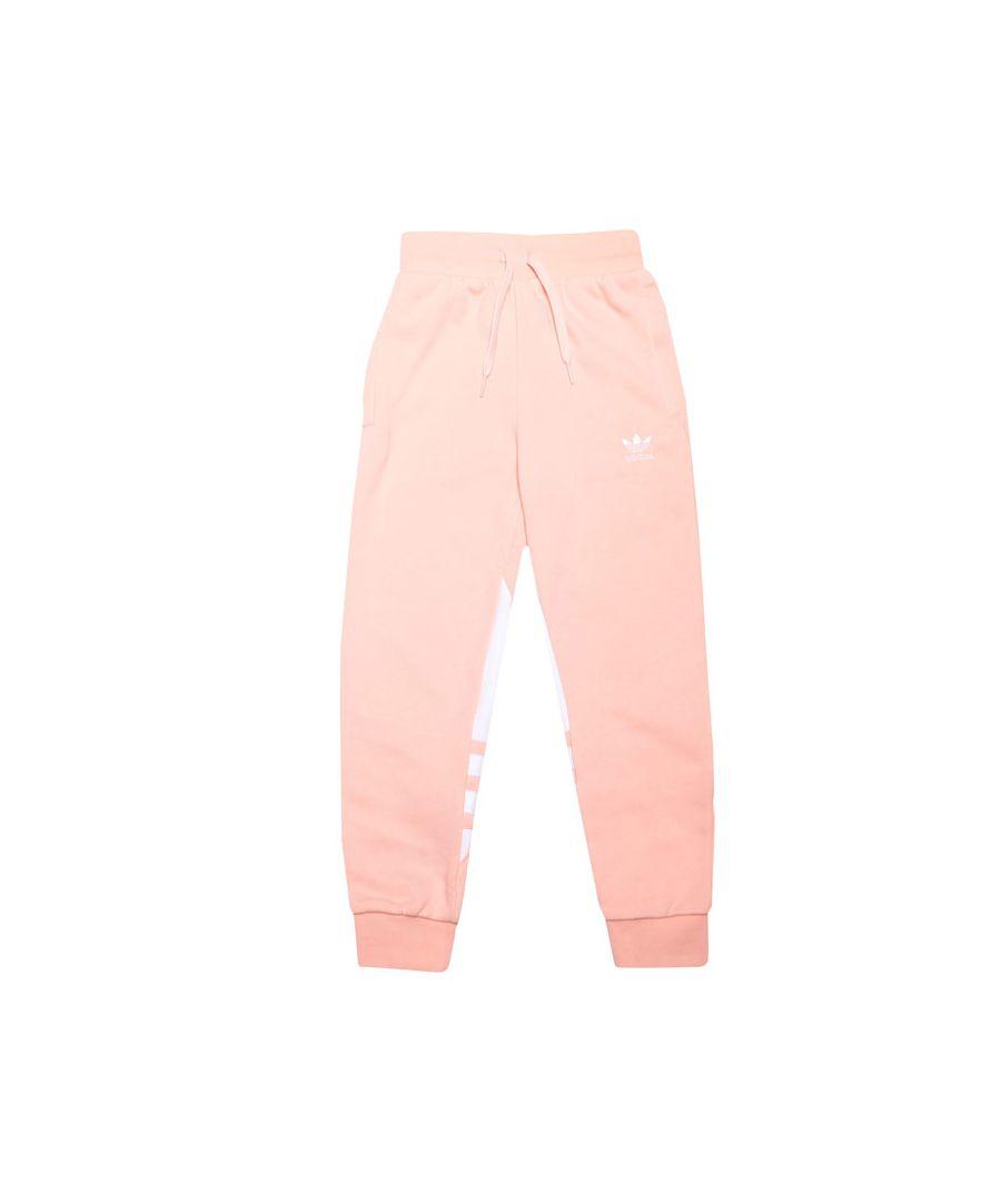 Image for Girls' adidas Originals Junior Large Trefoil Pants Coral 12-13In Coral