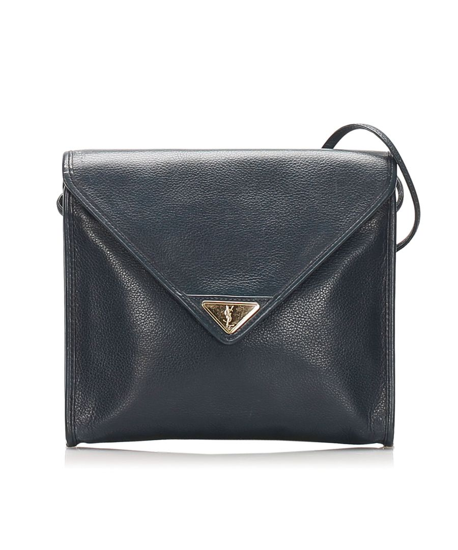 Image for Vintage Ysl Leather Crossbody Bag Black