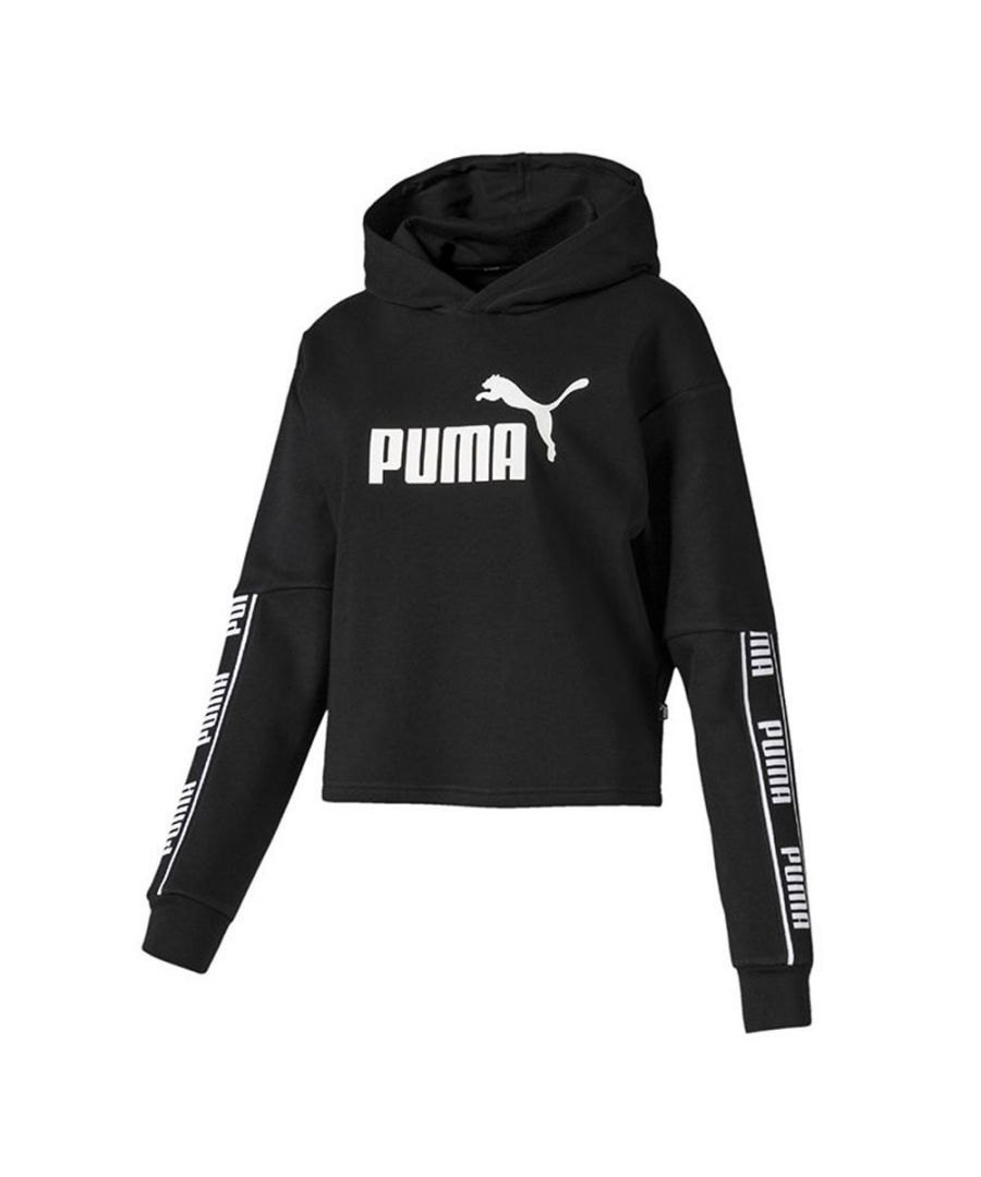 Image for Puma Amplified Womens Cropped Hoodie Black