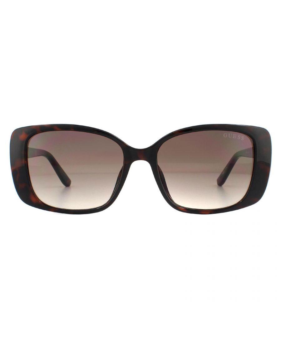 Image for Guess Sunglasses GU7631 52F Dark Havana Brown Gradient