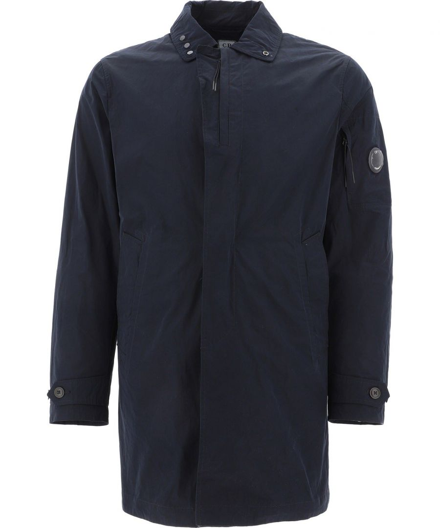 Image for CP COMPANY MEN'S 08CMOW090A003778A888 BLUE POLYESTER COAT