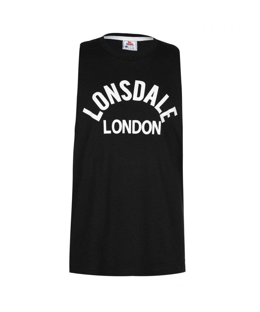 Image for Lonsdale Mens Sleeveless Vest Muscle Training Sports Gym Top Fitness