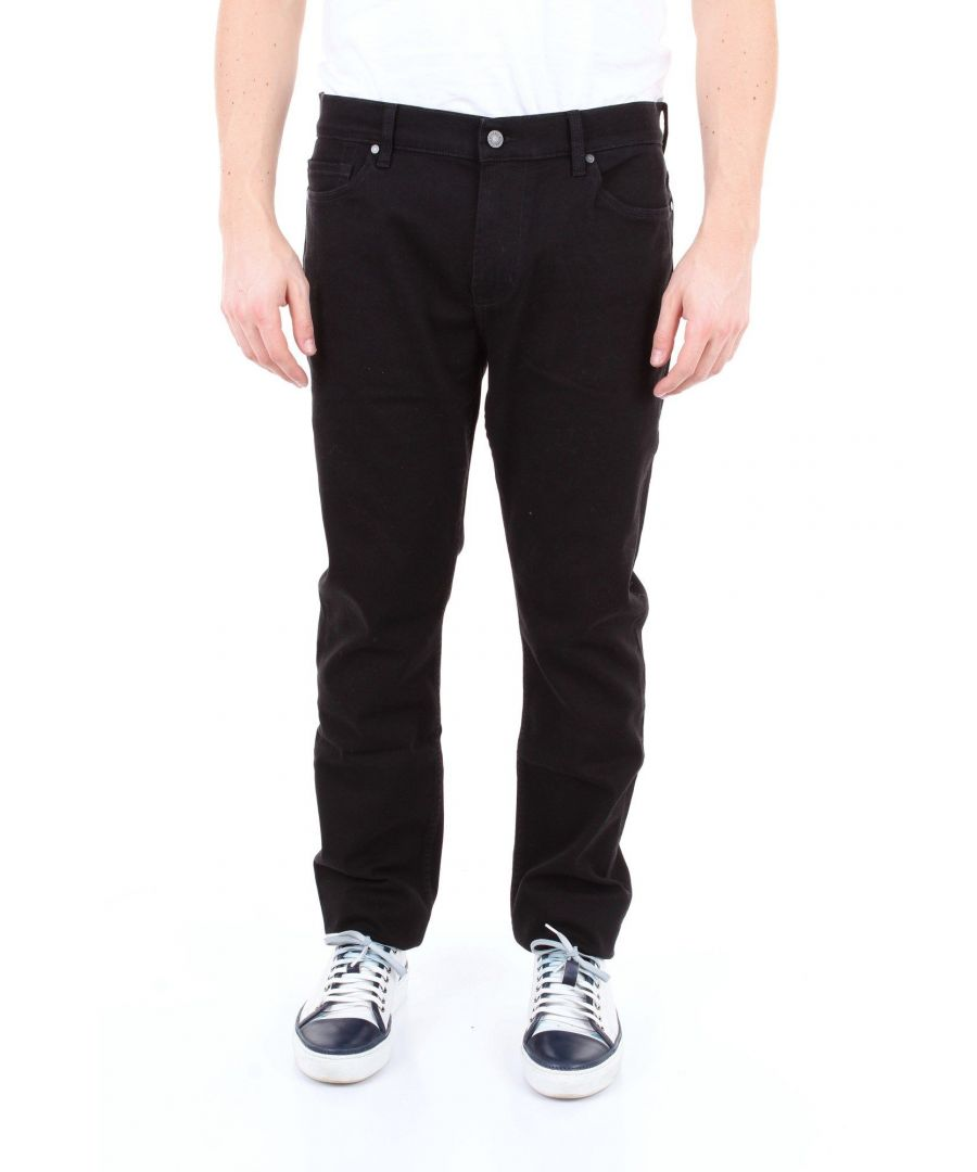 Image for 7 FOR ALL MANKIND MEN'S JSD4R730PBNERO BLACK COTTON JEANS
