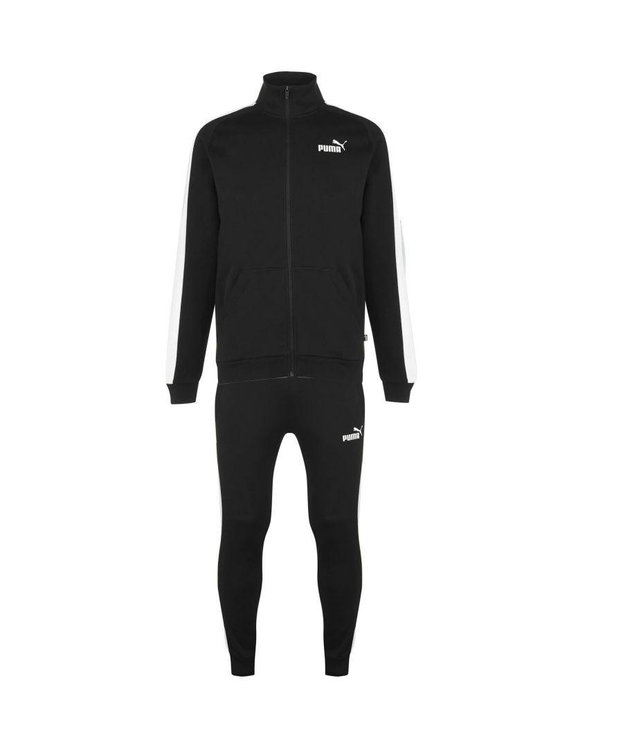 Image for Puma Mens Fleece Sweatsuit Black - L
