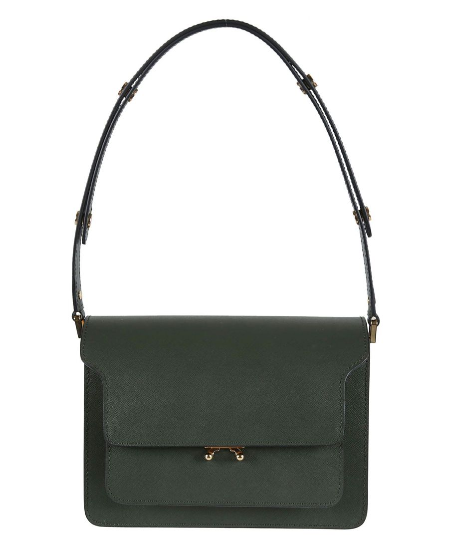 Image for MARNI WOMEN'S SBMPN09NO1LV520ZV55N GREEN LEATHER SHOULDER BAG