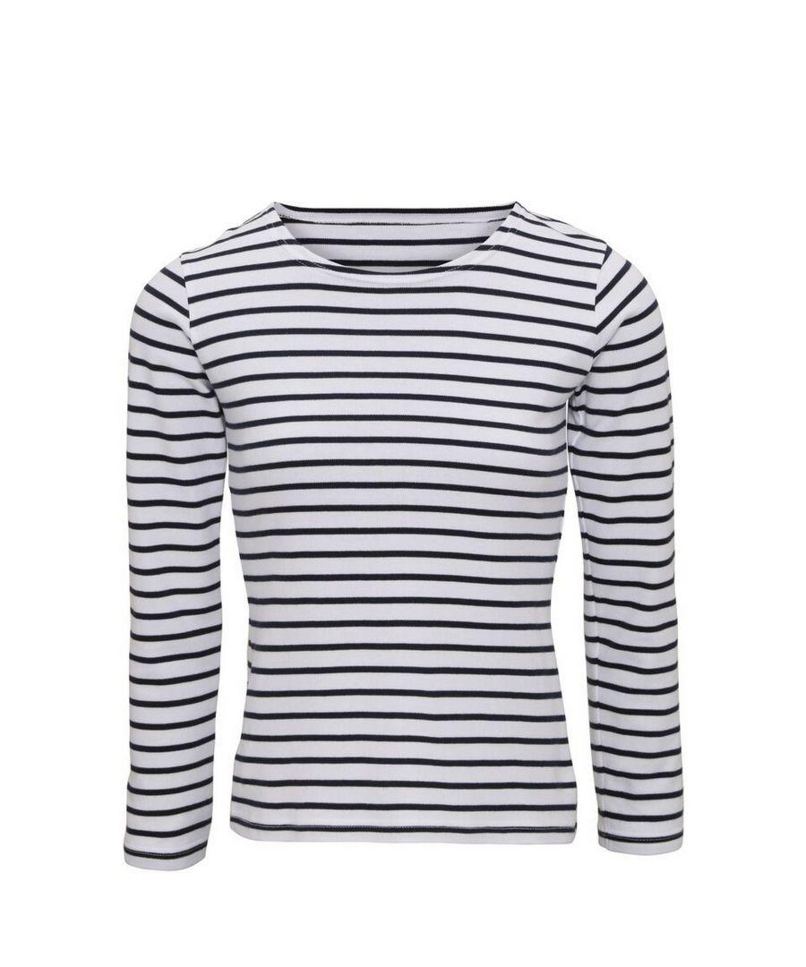 Image for Asquith & Fox Womens/Ladies Mariniere Coastal Long Sleeve T-Shirt (White/Navy)