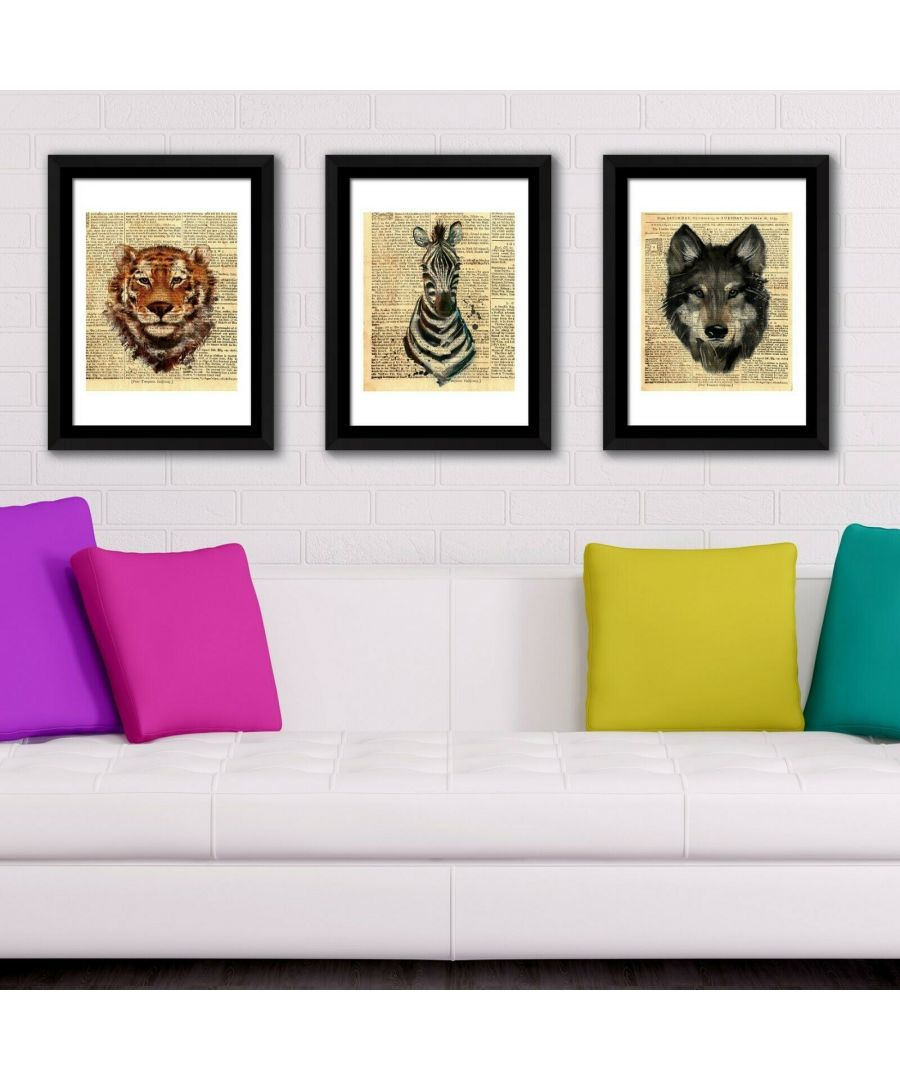 Image for Framed Art Newspaper Animals Posters Framed Photo, Framed Art