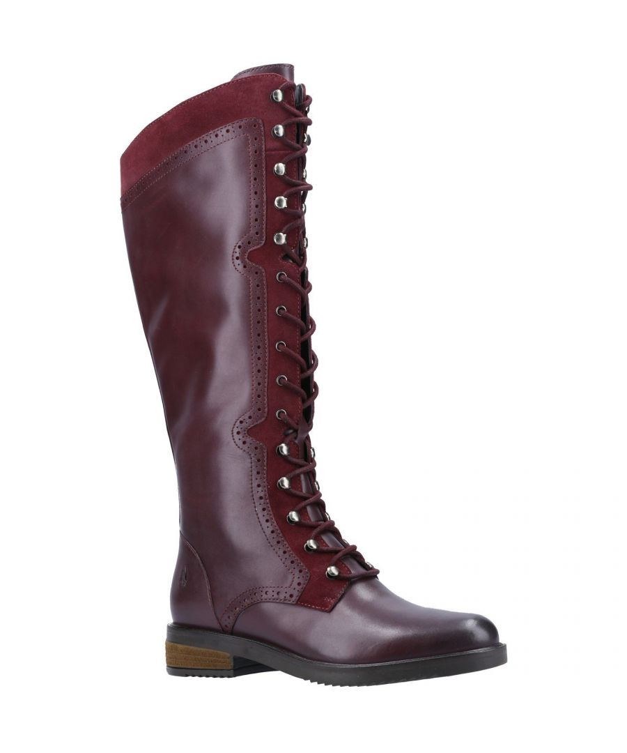 Image for Hush Puppies Women's Rudy Lace Up Long Leather Boot (Burgundy)