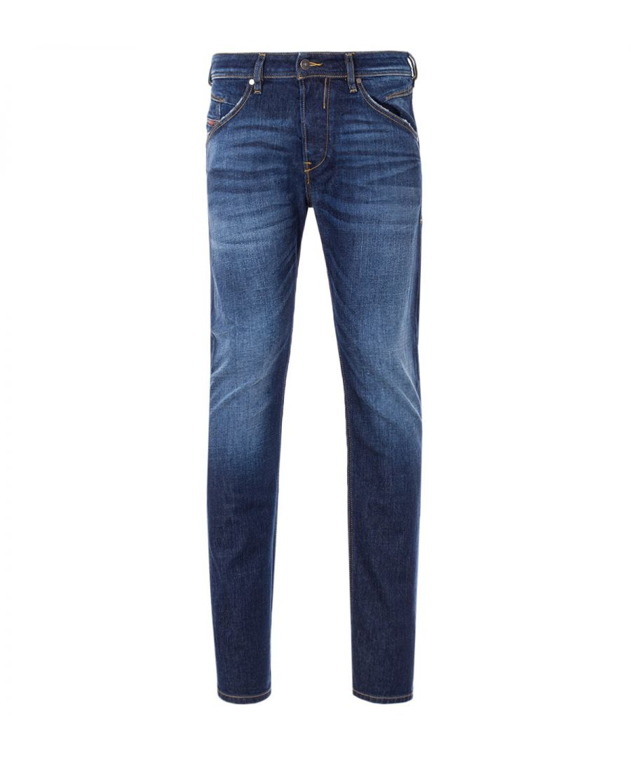 Image for Diesel Belther-R Tapered Fit Jeans - Dark Blue