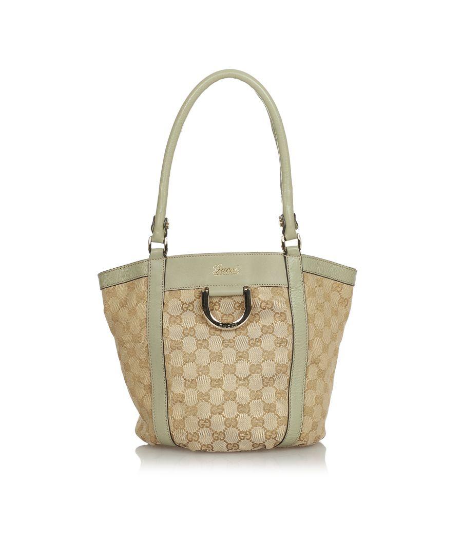 Image for Vintage Gucci Abbey GG Canvas Shoulder Bag Brown