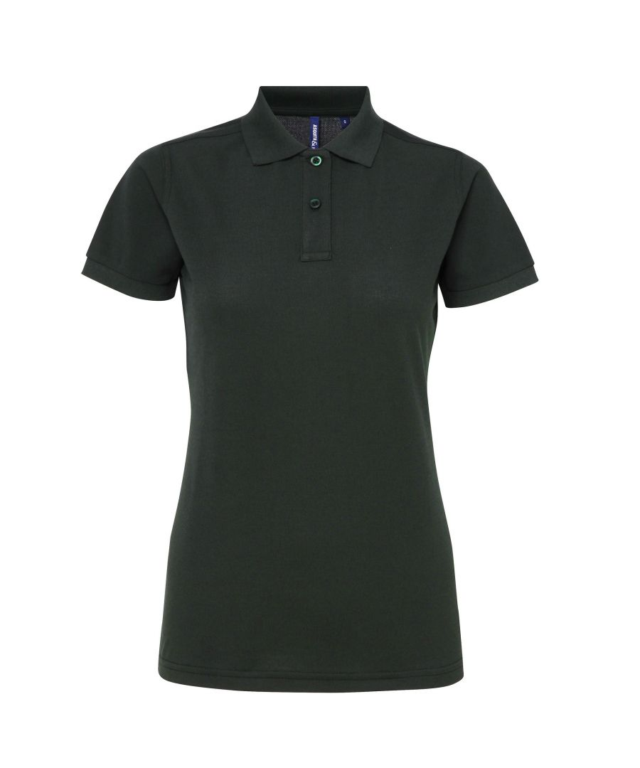 Image for Asquith & Fox Womens/Ladies Short Sleeve Performance Blend Polo Shirt (Bottle)