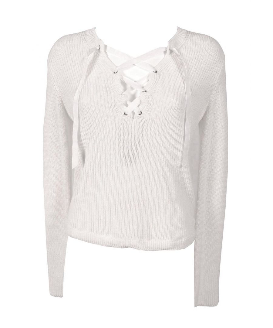 Image for TWENTY EASY BY KAOS WOMEN'S FP037WHITE WHITE COTTON JUMPER