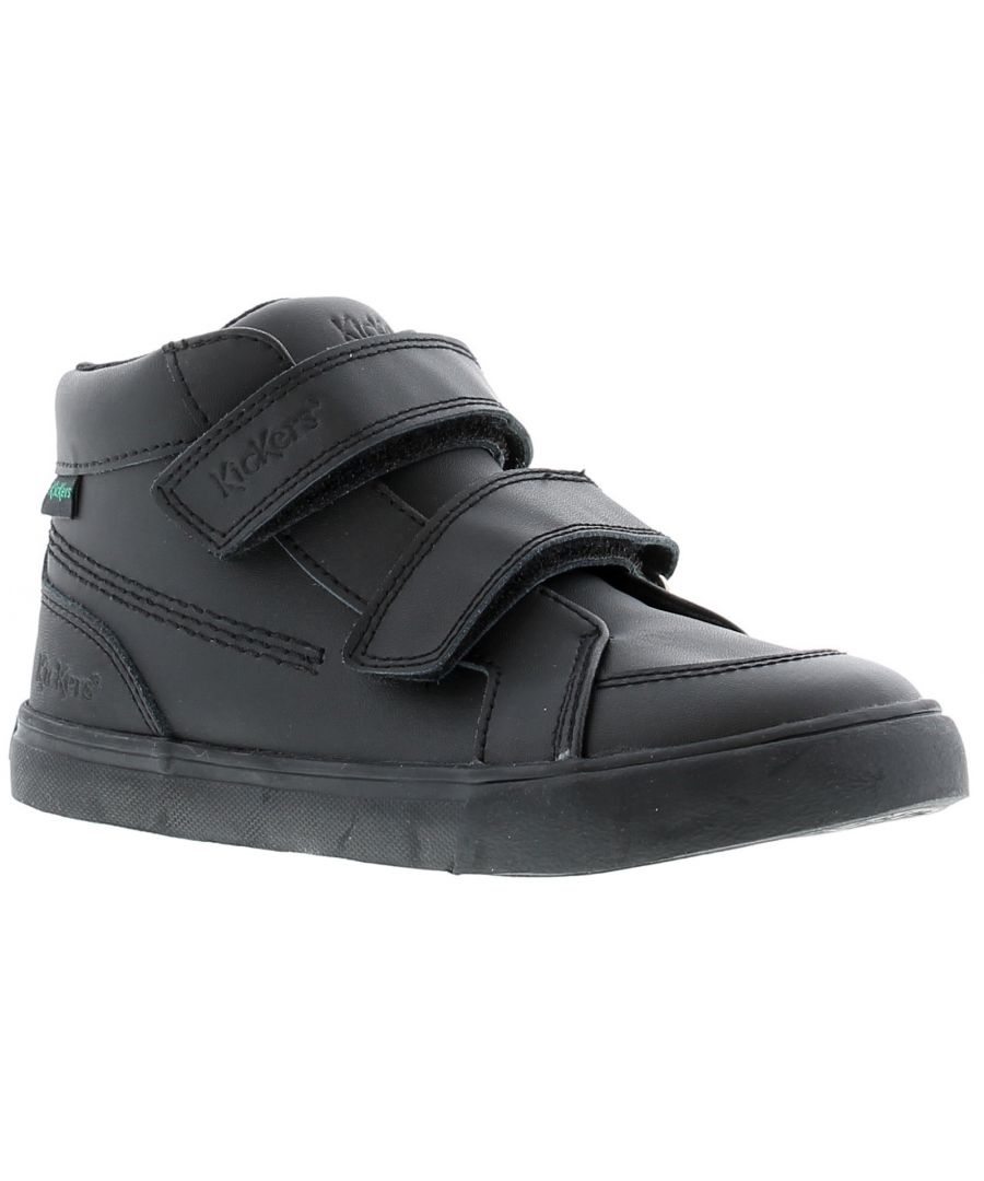 Image for Kickers tovni hi leather Infants Boys Black School Shoes & Trainers