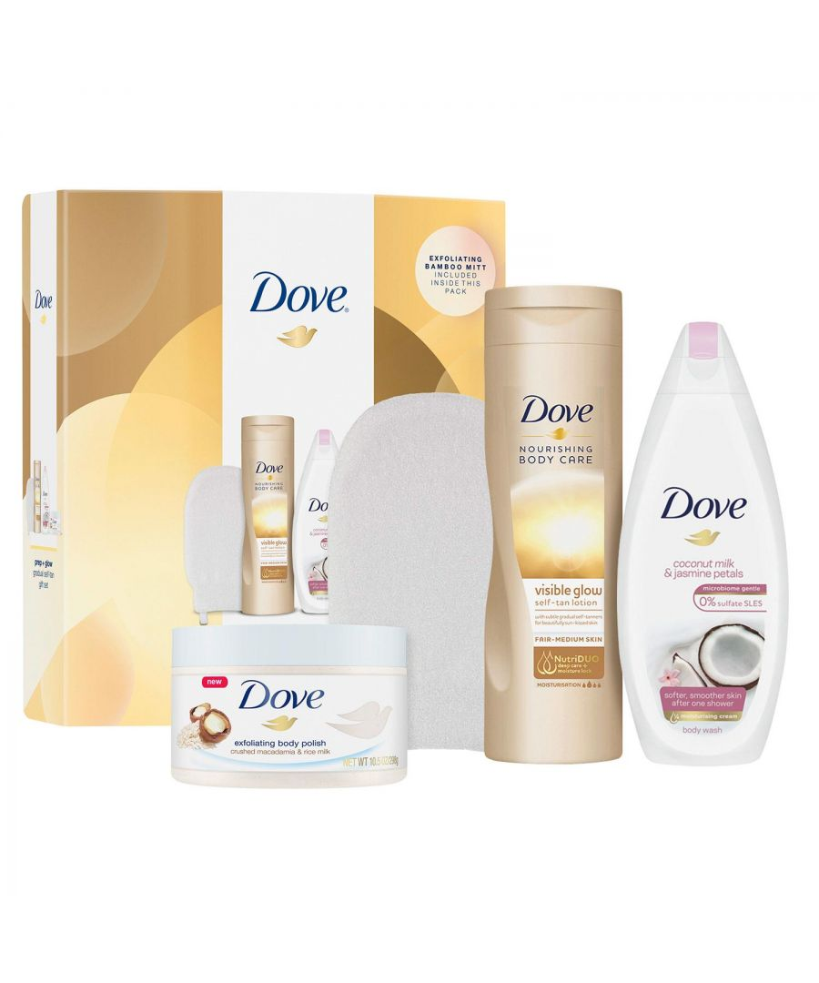Image for Dove Glow And Gradual Tan Gift Collection Set With Body Mitt