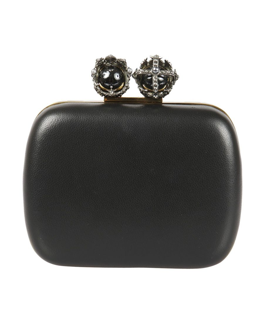 Image for ALEXANDER MCQUEEN WOMEN'S 480497AM00Z1000 BLACK LEATHER POUCH