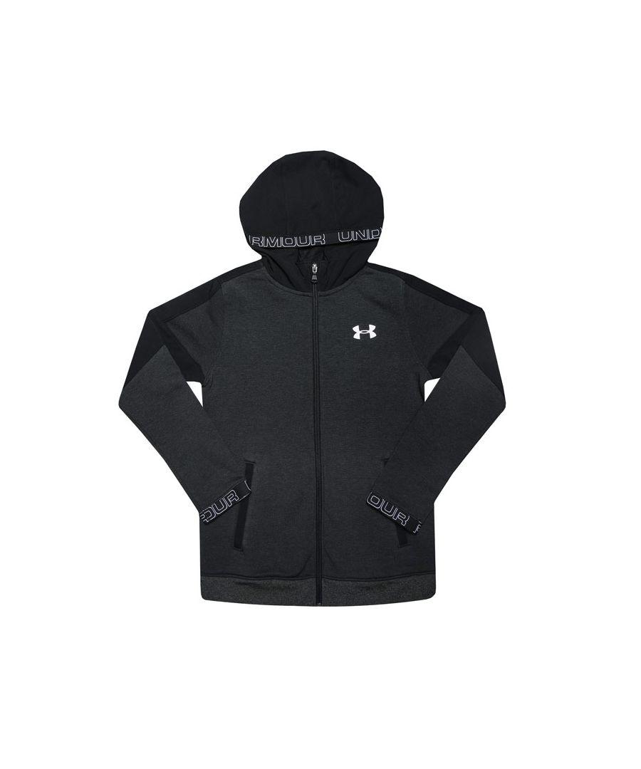 Image for Boys' Under Armour Junior Pregression Zip Hoodie in Black