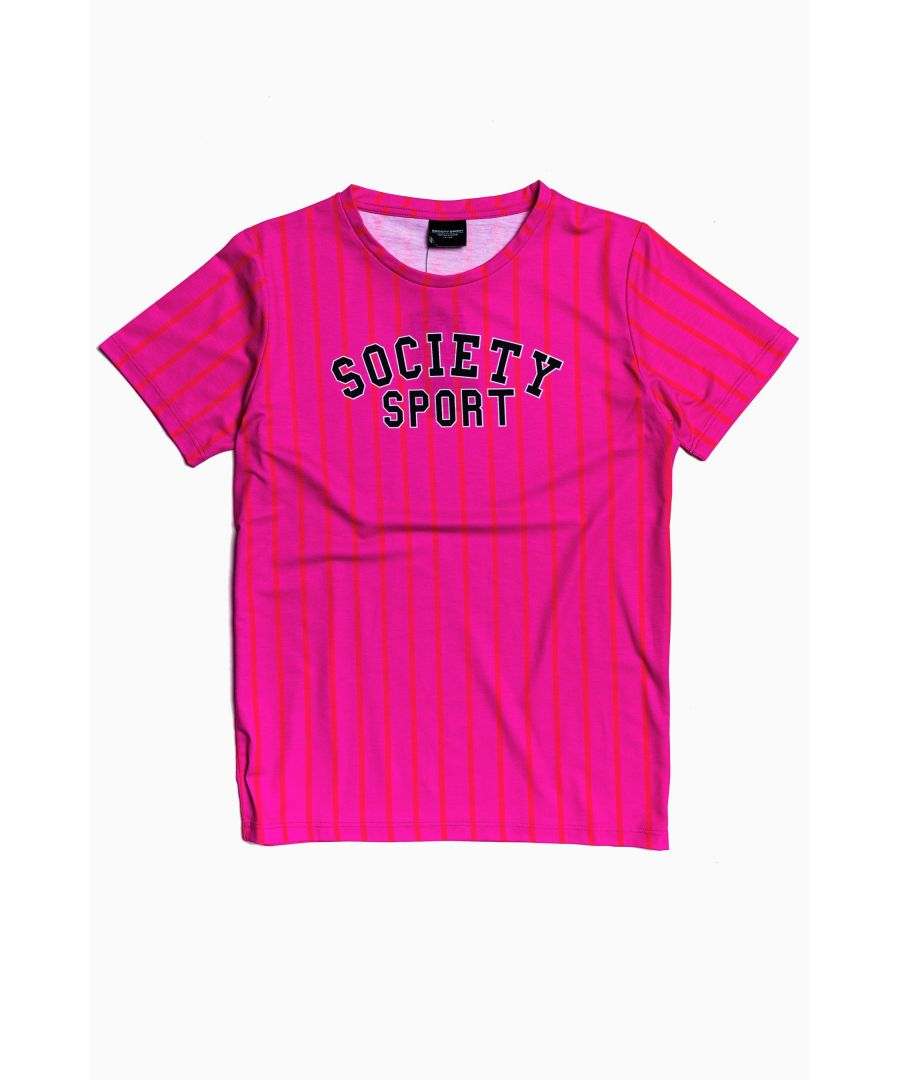 Image for Society Sport Pink Stripe T-Shirt