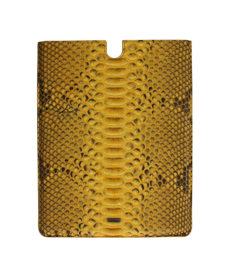 Image for Dolce & Gabbana Gelbe Schlangenhaut P2 Tablette eBook Abdeckung