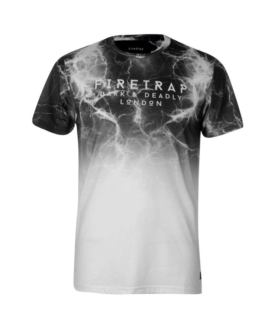 Image for Firetrap Mens Blackseal Sub T Shirt Crew Neck Tee Top Short Sleeve Lightweight