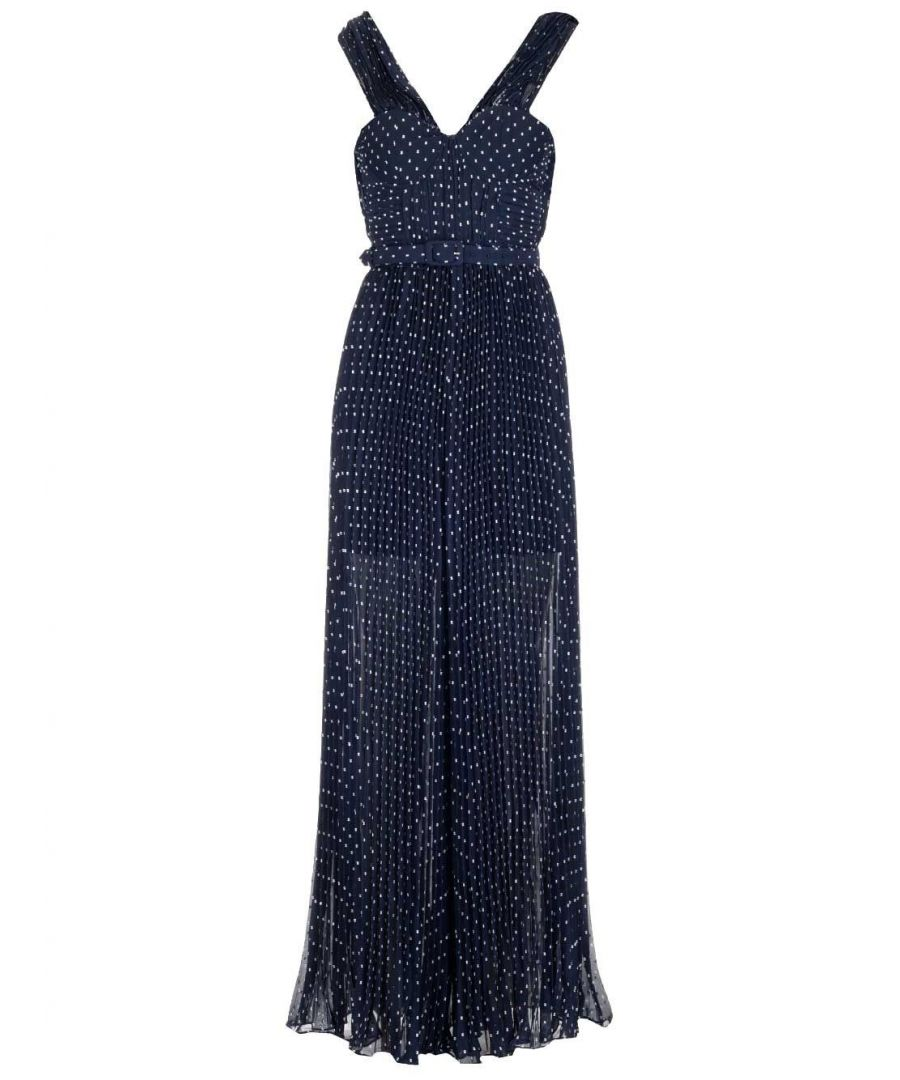 Image for SELF-PORTRAIT WOMEN'S SP22108JPNAVY BLUE POLYESTER DRESS
