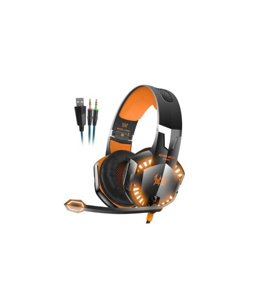 Image for Headband Headphones with Stereo Microphone LED Light