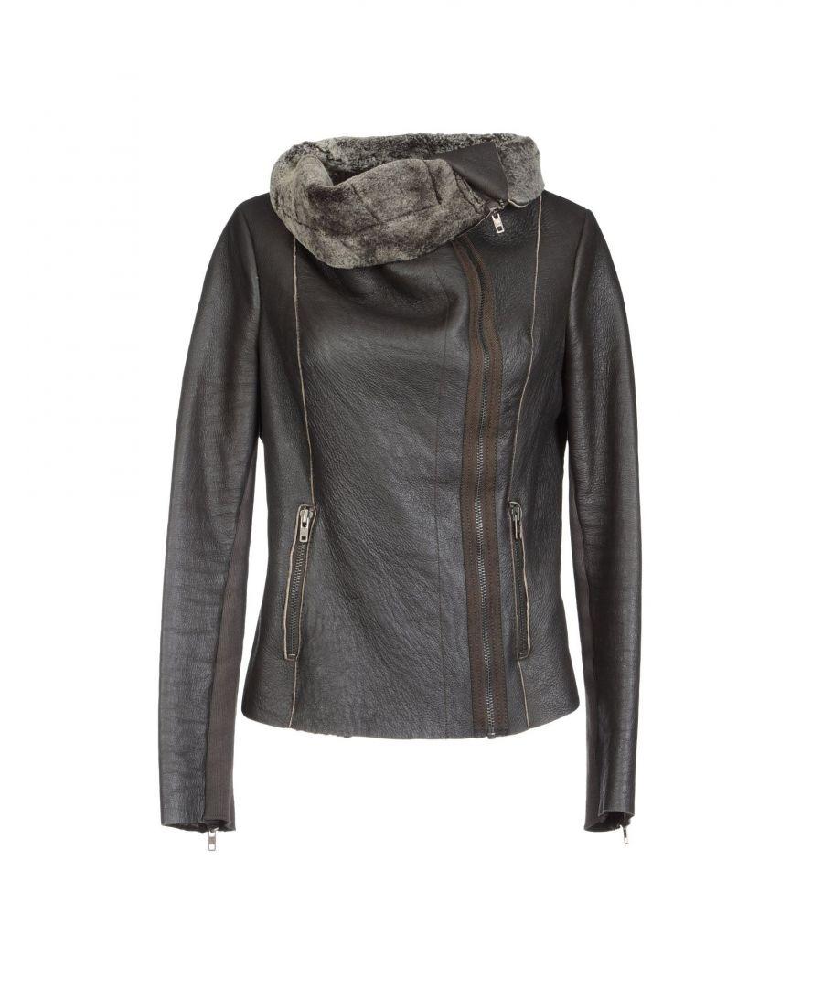 Image for Muubaa Dark Brown Sheepskin Leather Jacket