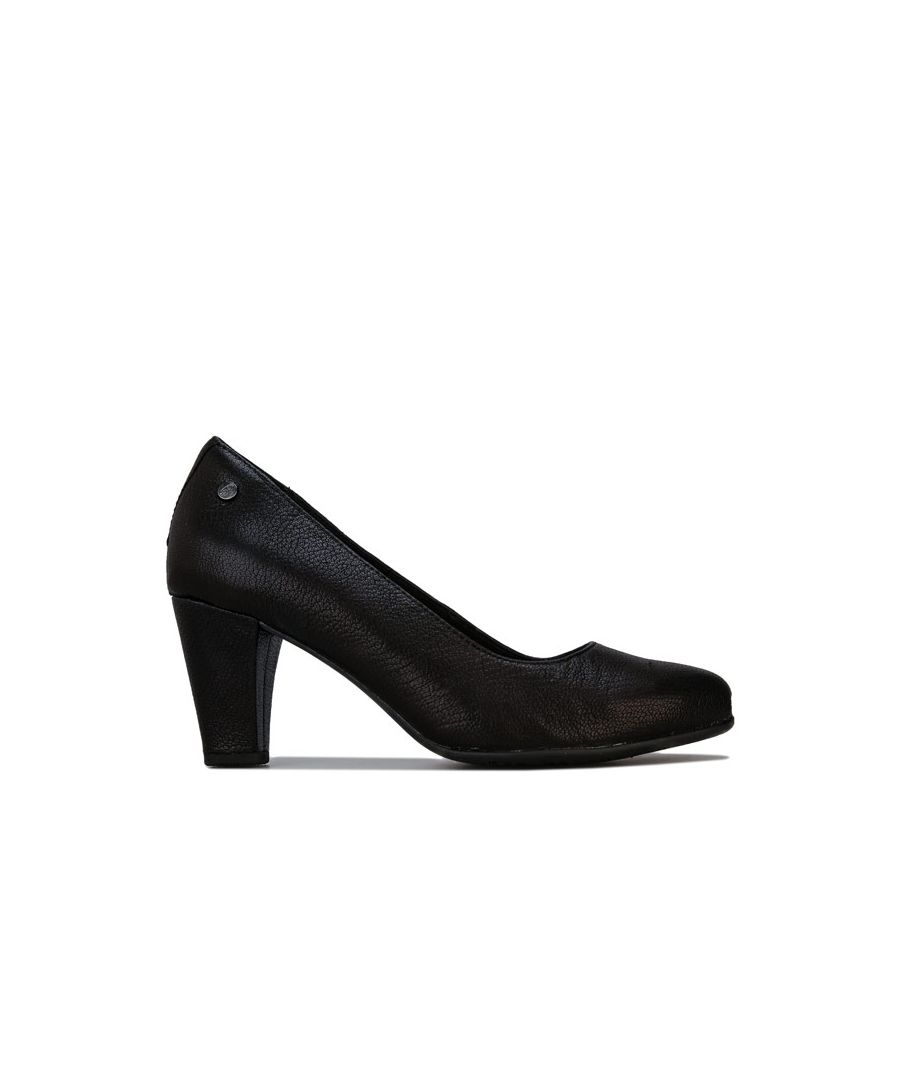 Image for Women's Hush Puppies Minam Meaghan Leather Court Shoes in Black