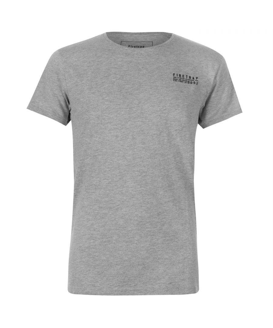 Image for Firetrap Mens Trek T-Shirt 100% Cotton Short Sleeves Crew Neck Casual Top Tee