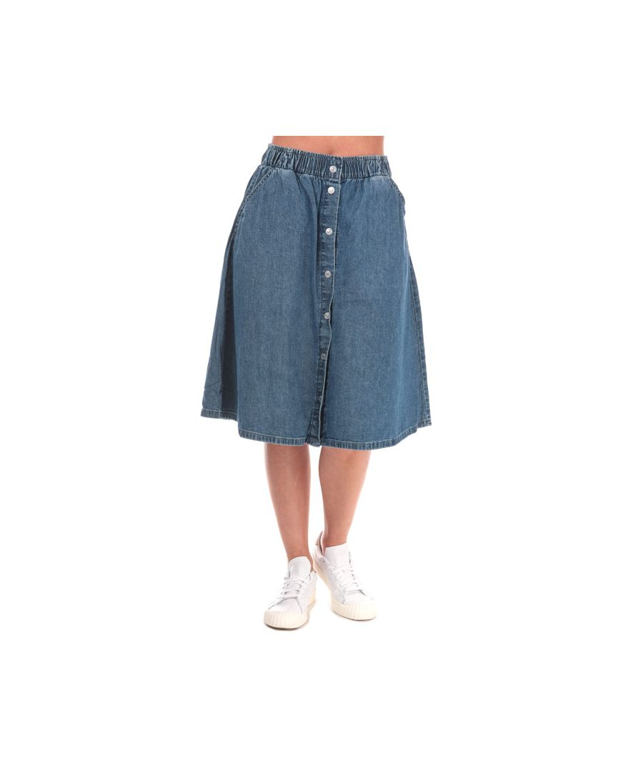 Image for Women's Levis Lightweight Midi Skirt in Denim